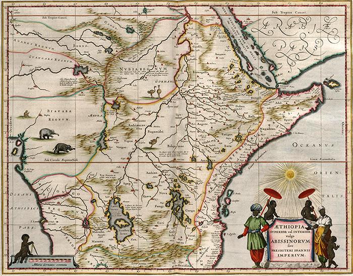 Абиссиния, карта XVII века.
